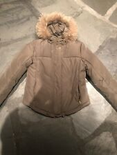 Calvin Klein Olive Green Fur Lined Hood Winter Parka Waist Length