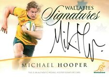 ✺Signed✺ 2015 WALLABIES SIGNATURES Rugby Union Card MICHAEL HOOPER #104/150