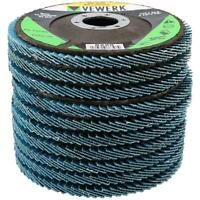 """4.5"""" / 115mm Zirconium Sanding Grinding Removal Flap Discs For Angle Grinders"""