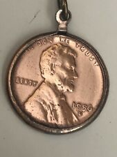 1956 D One 1 cent coin Lincoln Wheat copper bracelet necklace charm