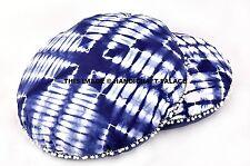 2 PC Indian Tie Dye Shibori Cushion Pillow Cover Round Boho Floor Pillow Ottoman