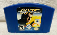 007 The World is Not Enough Nintendo 64 Game Authentic Blue N64 Cartridge Rare