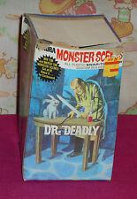 vintage 1971 Aurora Monster Scenes model kit DR. DEADLY ORIGINAL BOX only