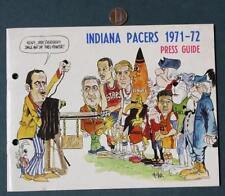 1971-72 Aba Indiana Pacers Media Guide-Daniels-Brown-Neto- Keller-Leonard-Mount!*