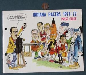 1971-72 ABA Indiana Pacers Media Guide-Daniels-Brown-Neto-Keller-Leonard-Mount!