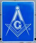 Vtg Masonic Mason's Retired Large Street Sign Graphic Insignia Symbol Emblem
