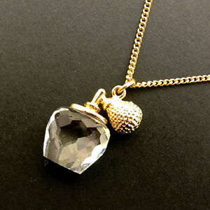 SWAROVSKI Necklace Pendant Gold Woman Authentic Used Y1259