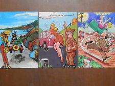 Lotto di 3 cartolina SERVIZIO MILITARE umoristiche NAIA satiriche viaggiate '70