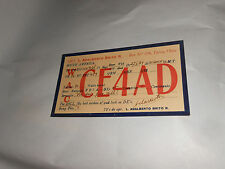 Vintage 1939 QSL Amateur Radio Card CE4AD Talca Chile