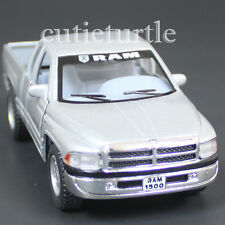Kinsmart Dodge Ram 1500 4x4 Pick Up Truck 1:44 Diecast Toy Car Silver