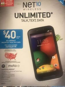 Motorola Moto E - 8GB - Midnight Blue (Net 10 wireless ) prepaid Smartphone