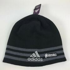 NEW Adidas Eclipse Climawarm Reversible Mens Black Grey Beanie Hat OSFM