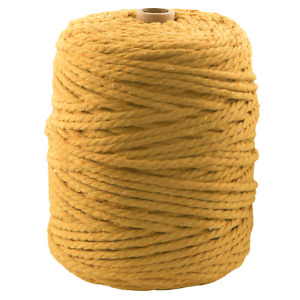 4mm yellow mustard macrame cord 190m cotton string 3 ply twisted rope yarn AU