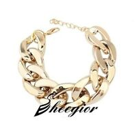 SHINY LINK ID Celebrity Style ALUMINIU CHOKER CHUNKY Curb Fashion Chain Necklace