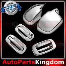 99-06 Chevy Silverado 1500 Chrome Mirror+2 Door handle w/o PSG KH+Tailgate Cover