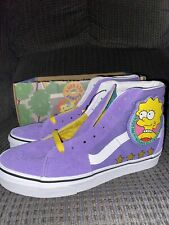 Vans The Simpsons Sk8-Hi Lisa For President Size Mens 6.5 Womens 8 Shoes NEW