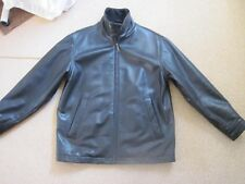 Mens Tmberland Black leather jacket Size M/L lightly used and in great condition
