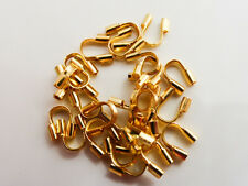 100 x Brass Wire Guardians Protectors Gold 5mm, Findings, Components   (FFC5104)