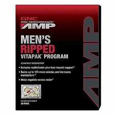 GNC 30 x Pro performance Amp Men's Ripped Vitapak Multi-Vitamins