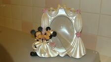Disney Park Mickey & Minnie Mouse Bride Groom Wedding Photo Frame