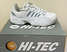 Hi-Tec Womens Tennis Court Trainers White/Blue/Grey