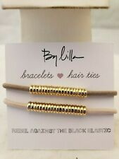Stackable Bracelet/Hair Ties With Gold Beads