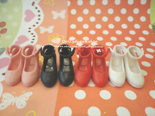 Doll Shoes ~ Takara Licca Heel shoes 4PAIRS SET NEW#PINK/BLACK/WHITE/RED COLOR