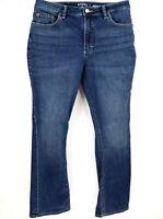 Lee Riders Jeans Womens Size 14M Blue Denim Cotton Blend Midrise Bootcut SHARP!