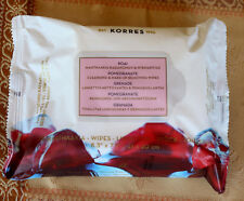 KORRES pomegranate cleansing and make-up removing wipes 21x20 cm
