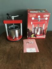 Italian Tommy Fruit Press for making Juices Jams Wines & Spirits  Apple Grapes