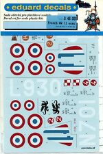 Eduard Decals 1:48 French WWII Aces P-36 Curtiss Hawk H-75/MS 406 #D48001