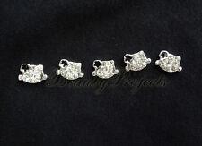 5pcs nail art black 3D kitty cat face rhinestone charms acrylic nails gel A101