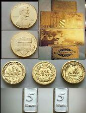 Banconota da 50 Euro Monete D'oro 24k e Lingotti argento Coins in Gold and ingot