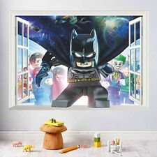 Lego Batman Smashed 3D Wall Sticker Kids Childrens Bedroom Vinyl Decal