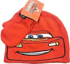 Disney Boy's Toddler Cars Beanie Hat Mittens Set Red 1 size