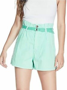 New Guess Women's Sierra Paperbag Waist Summer Shorts Size 0 2 4 6 8 10