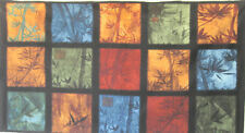 """C1223-04P - R. Kaufman """"Oriental Traditions 9"""", Cotton with Leaves 24"""" Panel"""