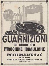 Z2602 ROSSI MASERA guarnizioni di cuoio - Pubblicità d'epoca - 1930 advertising