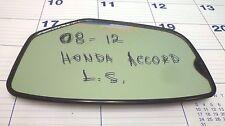 2008-2012 HONDA ACCORD LH DRIVER'S SIDE MIRROR GLASS OEM PART # 76253TA5A01