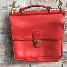 VINTAGE RARE COACH RED/ORANGE WILLIS BAG IN GREAT CONDITION MADE UNITED STATES