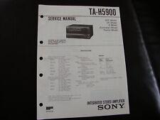 Original Service Manual Schaltplan Sony TA-H5900