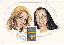 CARTE MAXIMUM FDC 1975 TIMBRE N° 1857 ANNEE INTERNATIONALE DE LA FEMME