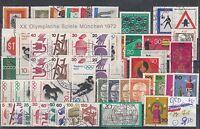 Brd  Jahrgang 1971  gestempelt, mit Block 6 und Blockeinzelmarken,