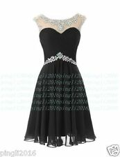 Prom Bridesmaid Dresses crew with crystals Short Evening Dress Stock Size 6+++18