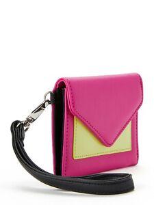 No Boundaries Ladies Envelope Wristlet Wallet Jordyn Pink & Lime  NEW