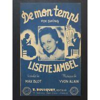 mon Tiempo Fox Swing Jackson Lisette 1947 partitura sheet music score