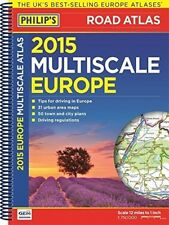 Philip's Multiscale Europe 2015: Spiral A4 (Road Atlas Europe), , New Book