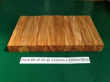 "Pak 86 of 10 Nice Italian Olivewood Pen Blanks 125 x 20,""May 2020 New Stock"""