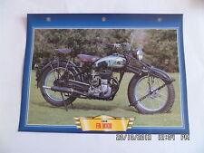 CARTE FICHE MOTO FN MXIII 1948