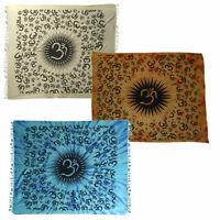 OM - Indische Motiv/Deko-Baumwoll Tagesdecken 210x240 cm - verschiedene Farben!